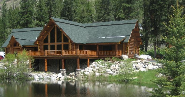 Master log homes for Lakeside home
